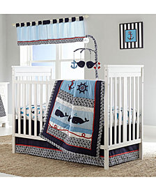 Nautica Whale of A Tail Crib Bedding Collection