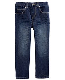 Little Boys' Dark Blue Denim Jeans, Created for Macy's