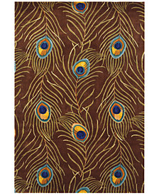 "Kas Catalina Peacock Feathers 2'6"" x 8' Runner Rug"