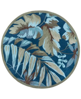 """Coral Tropica 5'6"""" Round Rug"""