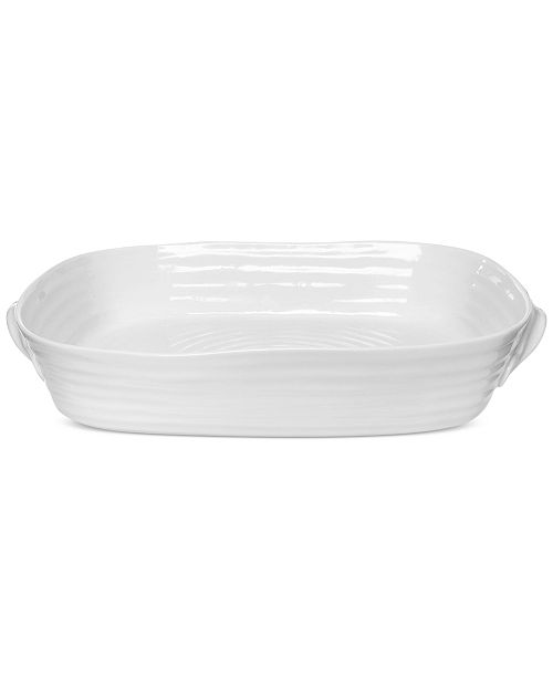 Portmeirion Sophie Conran Serveware Collection Large Handled Rectangular Roasting Dish