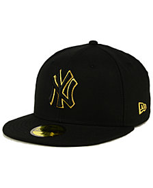 New Era New York Yankees Black On Metallic Gold 59FIFTY Fitted Cap