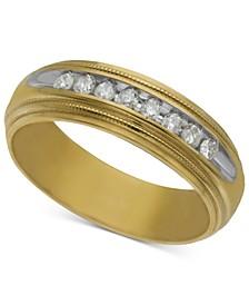 Men's Diamond Wedding Band (1/5 ct. t.w.) in 14k Gold