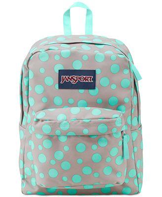Jansport Superbreak Backpack in Gray Rabbit Sylvia Dot - Backpacks ...