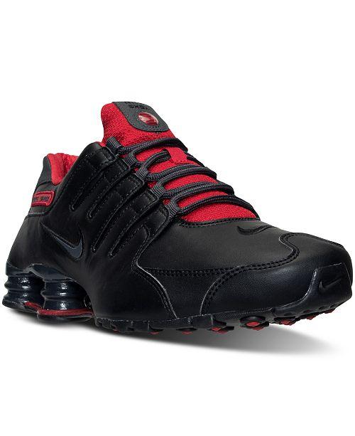 buy popular e8ca0 aa9a6 ... Nike Men s Shox NZ SL Running Sneakers from Finish ...