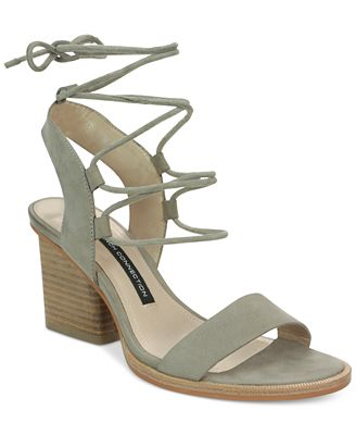 French Connection Jalena Lace-Up Sandals