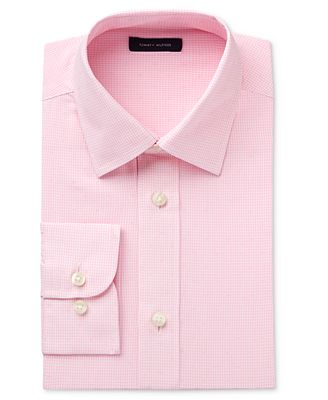 Tommy Hilfiger Pink Long-Sleeve Button-Up Shirt, Big Boys - Shirts ...