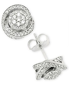 Diamond Fancy Stud Earrings (1/2 ct. t.w.) in Sterling Silver