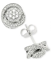 c55ec8bd5 Diamond Fancy Stud Earrings (1/2 ct. t.w.) in Sterling Silver