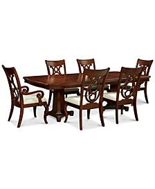 Closeout! Bordeaux Double Pedestal 7-Pc. Dining Set (Dining Table, 4 Side Chairs & 2 Arm Chairs)