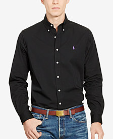Polo Ralph Lauren Men's Long-Sleeve Poplin Solid Shirt