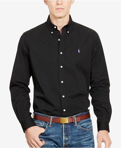 333a5ca66b741 Polo Ralph Lauren Men s Long-Sleeve Poplin Solid Shirt   Reviews ...