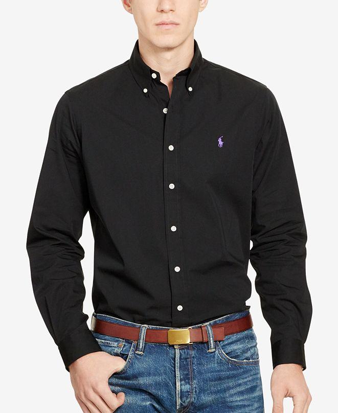 Polo Ralph Lauren Men's Long-Sleeve Poplin Solid Shirt