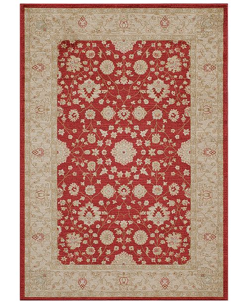"Momeni CLOSEOUT! Voyage Abbey Red 3'11""x5'7"" Area Rug"