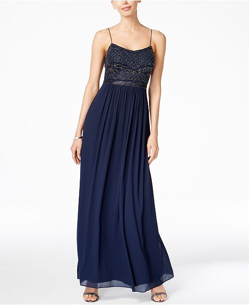 b3073625 Adrianna Papell Beaded Chiffon Gown & Reviews - Dresses - Women - Macy's
