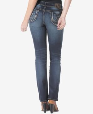 Silver Jeans Suki Slim Bootcut Dark Blue Wash Jeans