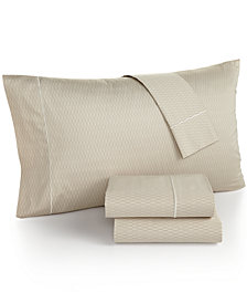 Hotel Collection Modern Geo Stripe 525 Thread Count Queen Sheet Set, Created for Macy's
