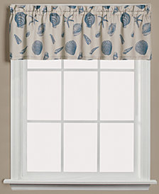"Saturday Knight Seychelles Graphic-Print 58"" x 13"" Valance"