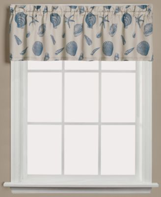 Saturday Knight Seychelles Graphic Print 58  Bathroom Window Curtains