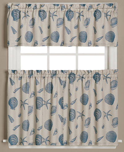 Saturday Knight Seychelles Graphic-Print Valance and Tier Pair Collection