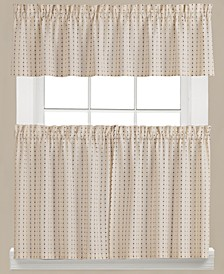 Hopscotch Check Valance and Tier Pair Collection