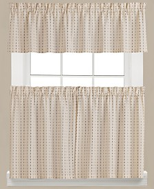 Saturday Knight Hopscotch Check Valance and Tier Pair Collection