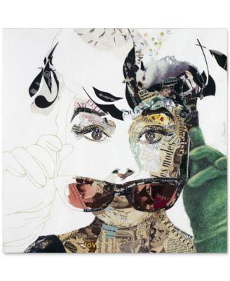 "'Audrey' Canvas Print by Ines Kouidis 18"" x 18"""