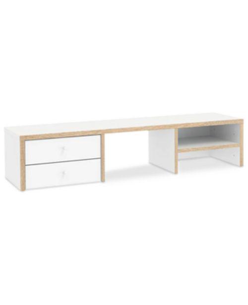 Furniture Reneer 2 Drawer and 1 Shelf Desk Hutch, Quick Ship
