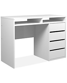 Blenman 4 Drawer and 2 Shelf Desk , Quick Ship