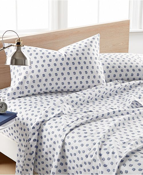 Elite Home Printed Paisley Sheet Sets 200 Thread Count 100 Cotton