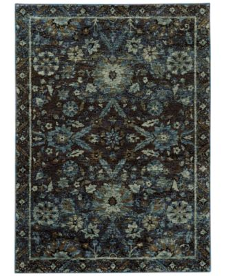 "Macy's Fine Rug Gallery Journey  Ordino Navy 8'6"" x 11'7"" Area Rug"