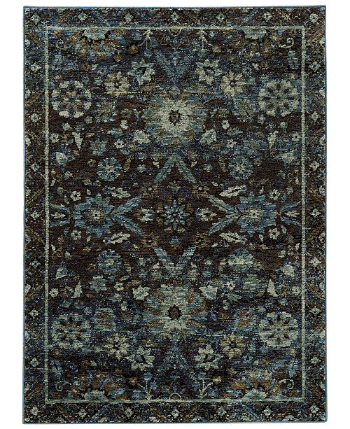Macy's Fine Rug Gallery  Journey  Ordino Navy Area Rugs