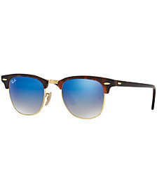 Ray-Ban CLUBMASTER GRADIENT MIRRORED Sunglasses, RB3016 49