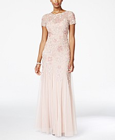 Floral-Beaded Gown