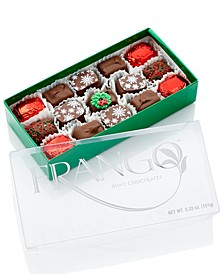15-PC Holiday Decorated Milk Mint Box of Chocolates