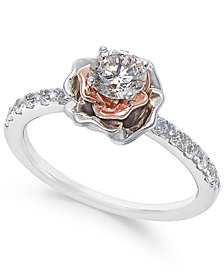 Diamond Bouquet Engagement Ring (3/4 ct. t.w.) in 14k White and Rose Gold