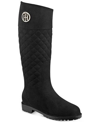 Tommy Hilfiger Babette Quilted Rain Boots - Boots - Shoes - Macy's