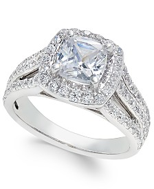 Diamond Cushion Cut Engagement Ring (2-1/2 ct. t.w.) in 18k White Gold