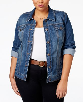 Style & Co Plus Size Denim Jacket, Created for Macy's - Jackets ...