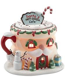 Department 56 North Pole Village Santa's Hot Cocoa Café