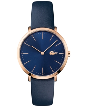 Lacoste Women's Moon Blue Leather Strap Watch 35mm 2000950