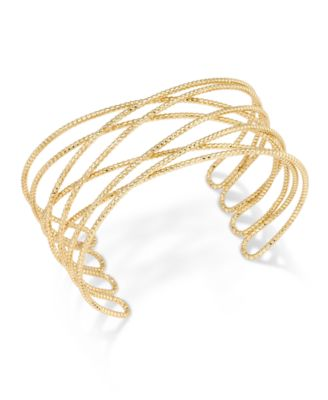 Image of INC International Concepts Gold-Tone Crisscross Cuff Bracelet, Created for Macy's