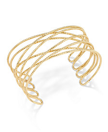 I.N.C. Gold-Tone Crisscross Cuff Bracelet, Created for Macy's