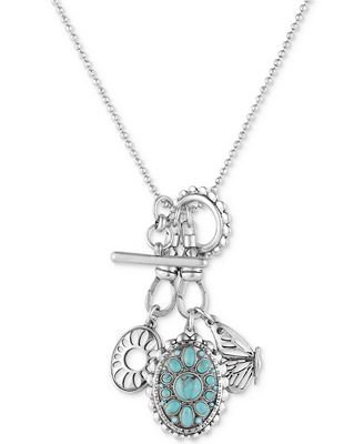 Lucky brand silver tone multi charm pendant necklace for Macy s lucky brand jewelry