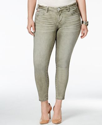 SLINK Jeans Plus Size Skinny Ankle Jeans - Jeans - Plus Sizes - Macy's