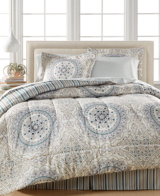fairfield square collection closeout aidan reversible bedding ensemble created for macy 39 s. Black Bedroom Furniture Sets. Home Design Ideas