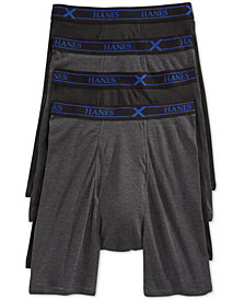 Hanes Men's 4 Pack Long-leg X-Temp Performance Boxer Briefs