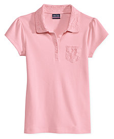Nautica Uniform Lace-Trim Polo, Big Girls Plus