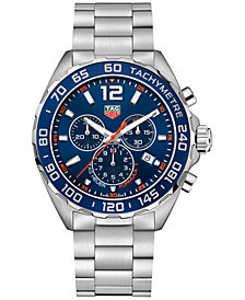 TAG Heuer Men's Swiss Chronograph Formula 1 Stainless Steel Bracelet Watch 43mm CAZ1014.BA0842