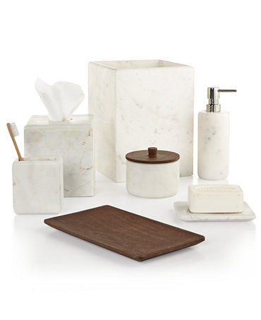 Hotel Collection Marble Bath Accessories Only At Macy 39 S